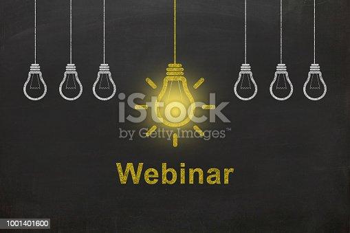 istock Webinar internet e-learning training blackboard 1001401600