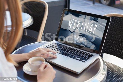 webinar online, internet education concept