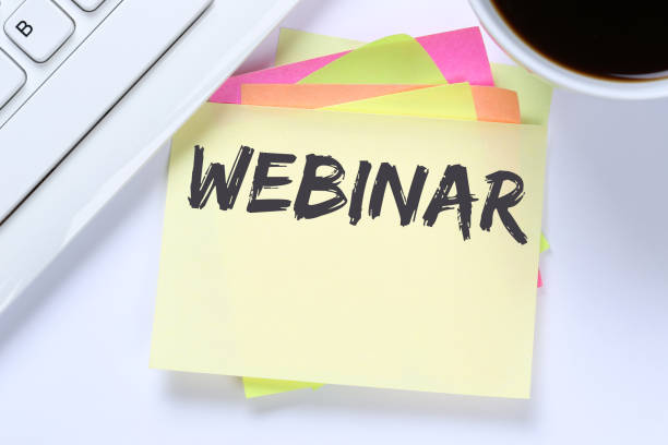 webinar online workshop training internet learning teaching seminar education - web conference stock photos and pictures