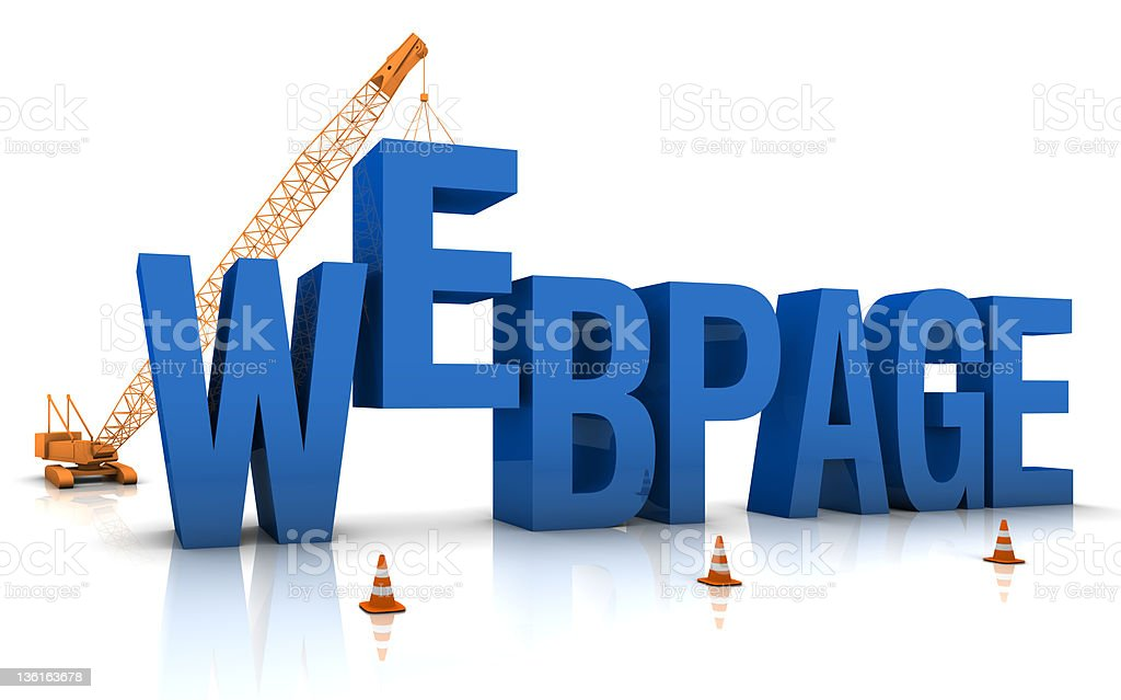 Webpage Under Construction royalty-free stock photo