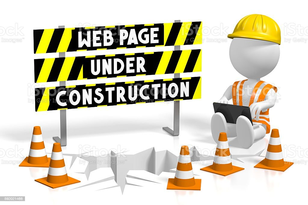 3d Webpage Under Construction Stock Photo - Download Image Now - iStock