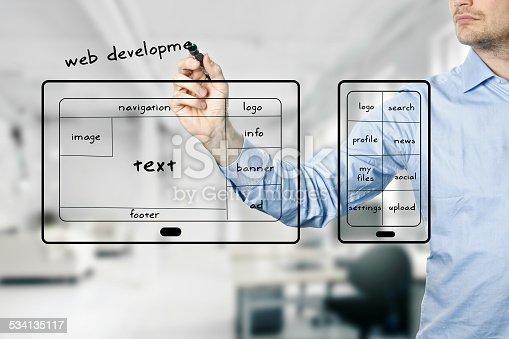 istock website and mobile app development 534135117
