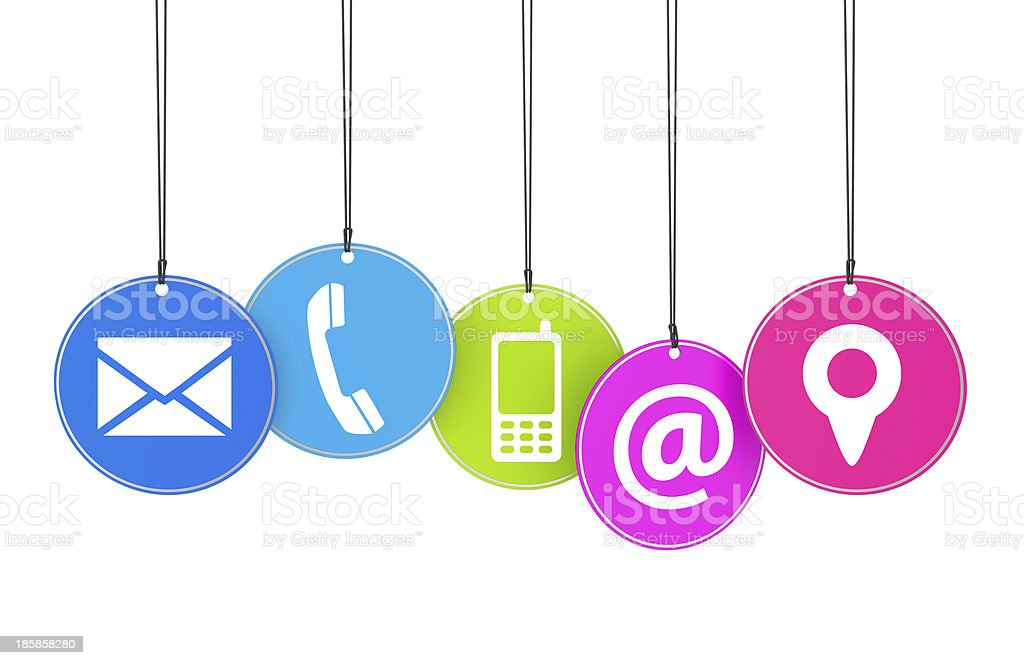 Website Contact Page Concept royalty-free stock photo