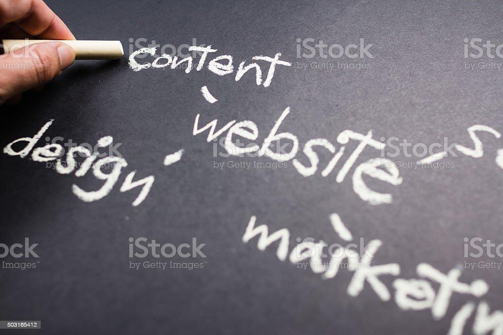 Website-Inhalte Lizenzfreies stock-foto