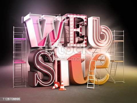 istock Website design, 3D illustration 1128708895