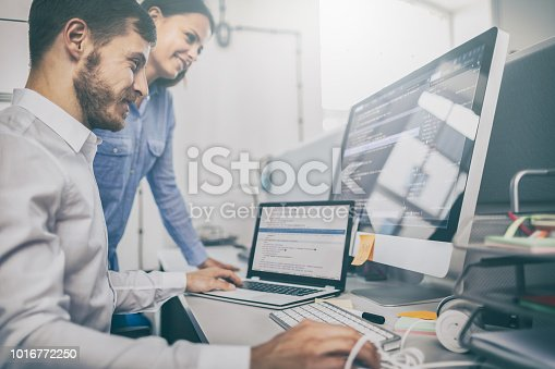 istock Website design. Developing programming and coding technologies. 1016772250