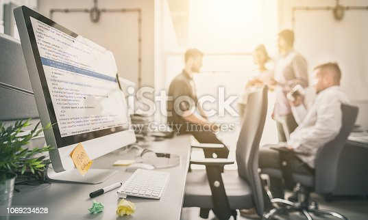 istock Website design. Developing programming and coding technologies. 1069234528