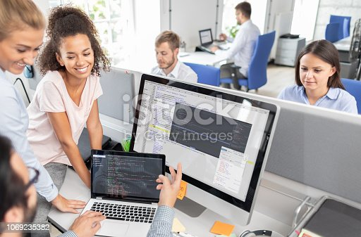 istock Website design. Developing programming and coding technologies. 1069235382