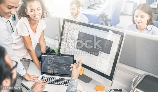 832124312istockphoto Website design. Developing programming and coding technologies. 1179187421
