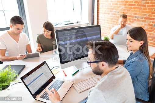 istock Website design. Developing programming and coding technologies. 1190408194