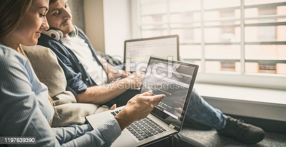 832125010 istock photo Website design. Developing programming and coding technologies. 1197639390