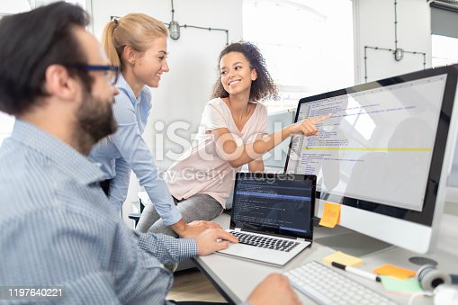 istock Website design. Developing programming and coding technologies. 1197640221