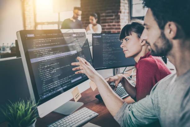 Website-Design. Entwicklung von Programmier- und Codierungstechnologien. – Foto