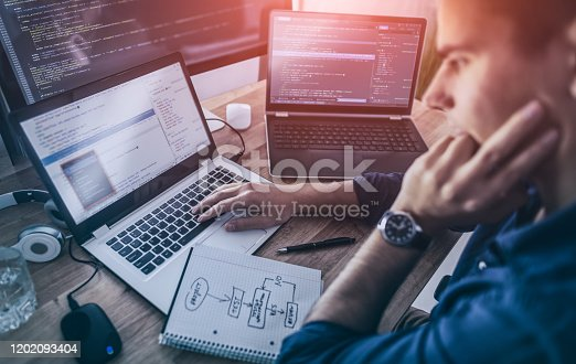 1170085960 istock photo Website design. Developing programming and coding technologies. 1202093404