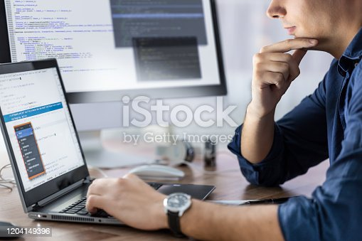 832125010 istock photo Website design. Developing programming and coding technologies. 1204149396