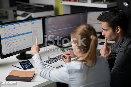 1076169884 istock photo Website design. Developing programming and coding technologies. 664035872