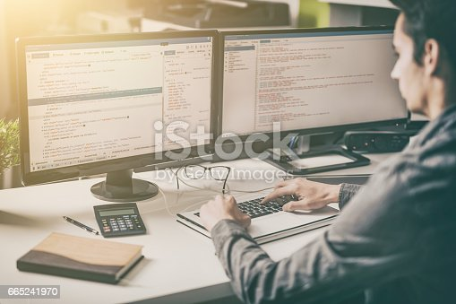 518433812istockphoto Website design. Developing programming and coding technologies. 665241970