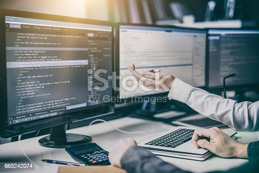 istock Website design. Developing programming and coding technologies. 665242074