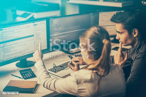 istock Website design. Developing programming and coding technologies. 667849678