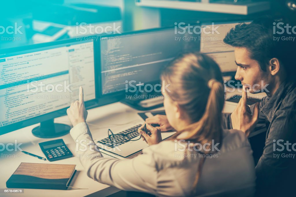 Website design. Developing programming and coding technologies. stock photo