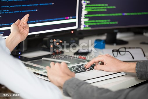 istock Website design. Developing programming and coding technologies. 802772800