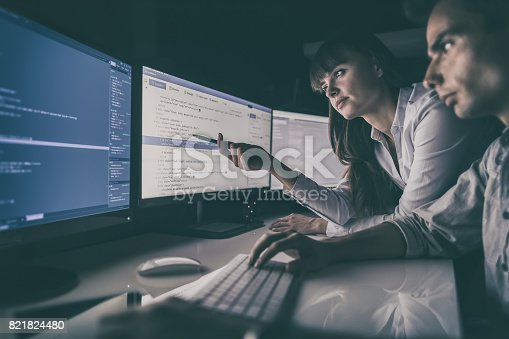 istock Website design. Developing programming and coding technologies. 821824480