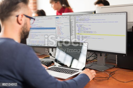 istock Website design. Developing programming and coding technologies. 832124312