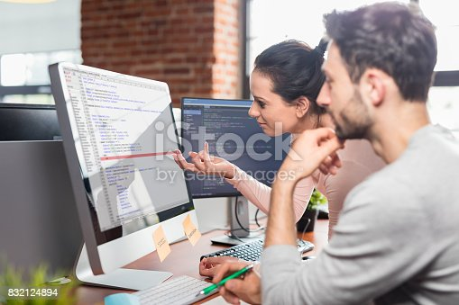istock Website design. Developing programming and coding technologies. 832124894