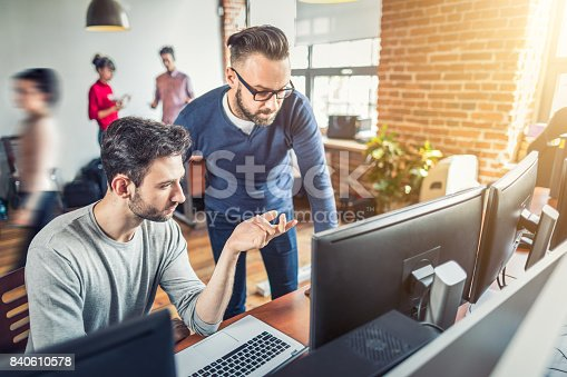 istock Website design. Developing programming and coding technologies. 840610578