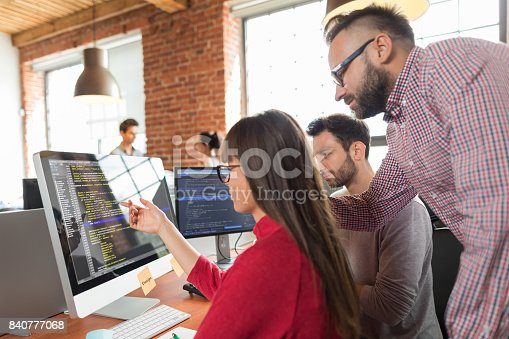 istock Website design. Developing programming and coding technologies. 840777068