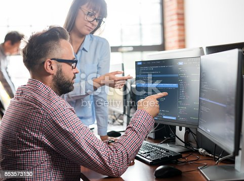 istock Website design. Developing programming and coding technologies. 853573130