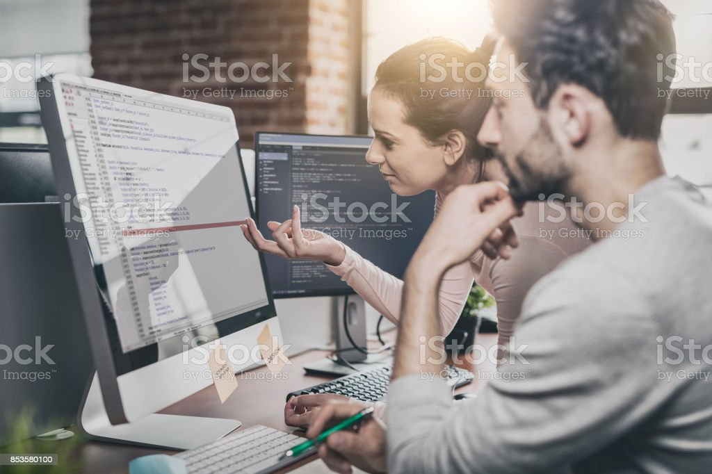 Website design. Developing programming and coding technologies. royalty-free stock photo