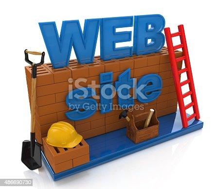 istock Website development. Website building, under construction 486690730