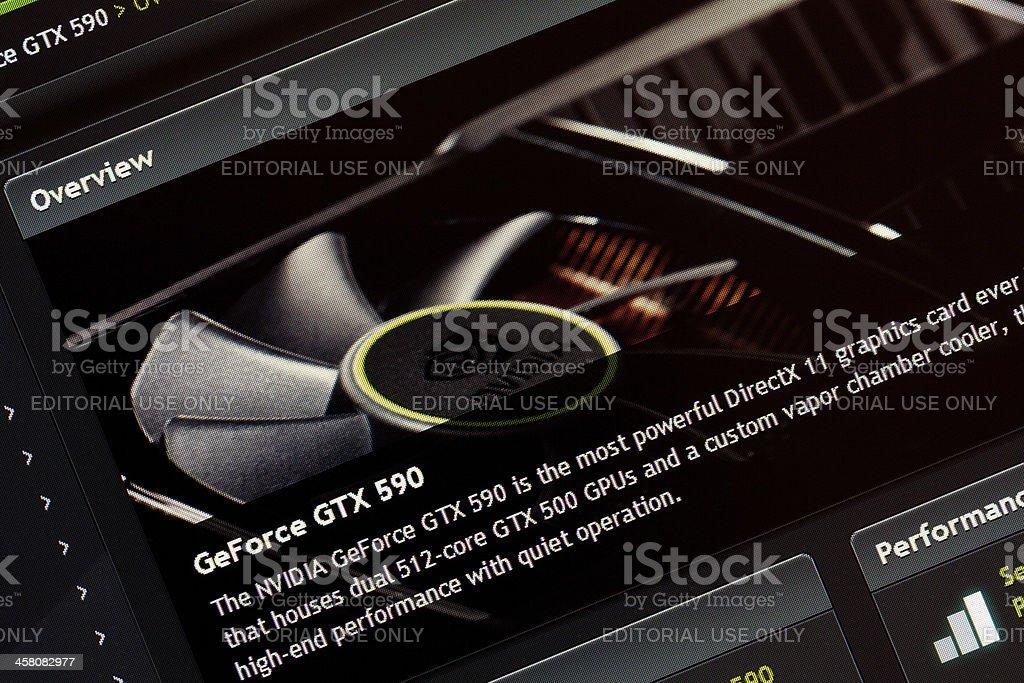 Website GeForce. stock photo