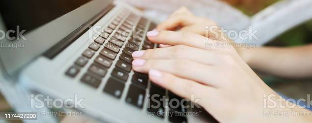 Website header and banner of closeup female hands typing on laptop picture id1174427200?b=1&k=6&m=1174427200&s=612x612&h=l4g db6jidj0jqi6gee g0lcce5kv5nfj0sf yf8nta=