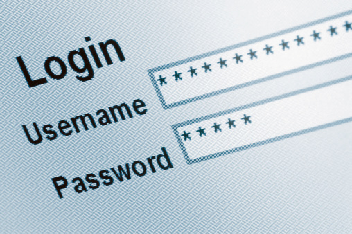 istock Website Login Screen Macro Capture, password username internet web security 176427697