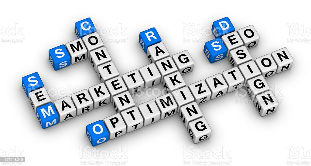 website marketing crossword royalty-free stock photo