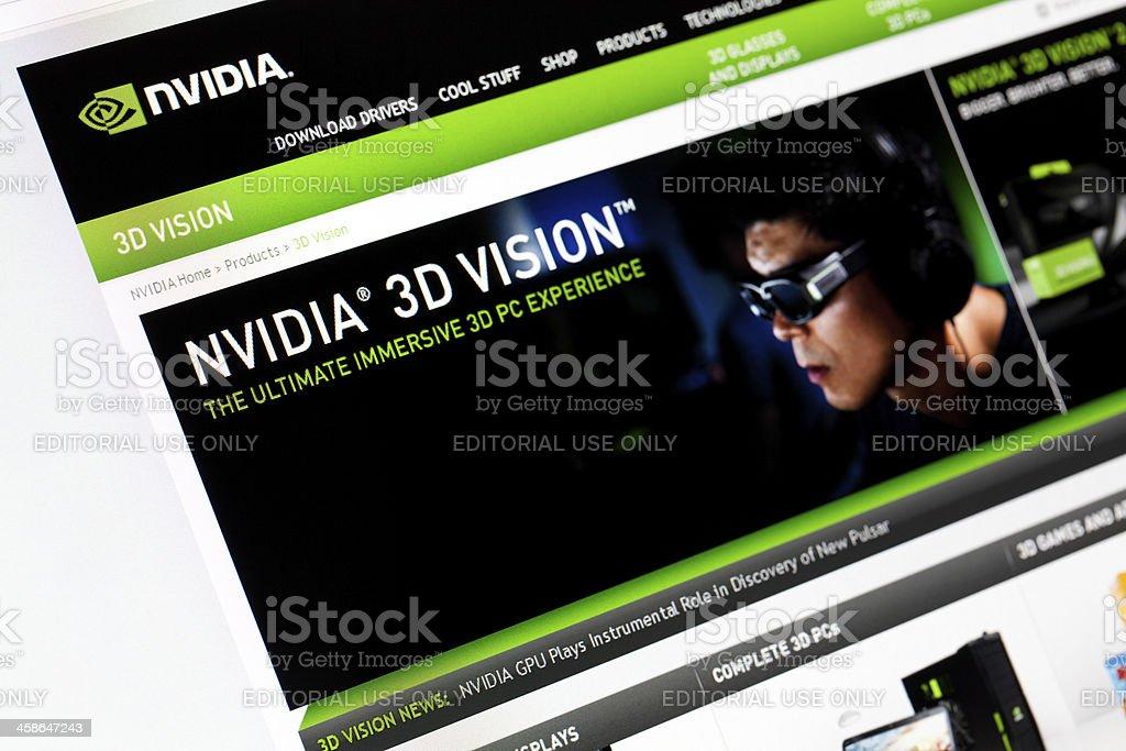 Website Nvidia. stock photo