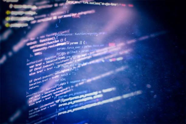 Web sitesi programlama kodu. BT işi. Yazılım geliştirme. Internet güvenlik hacker önleme. stok fotoğrafı