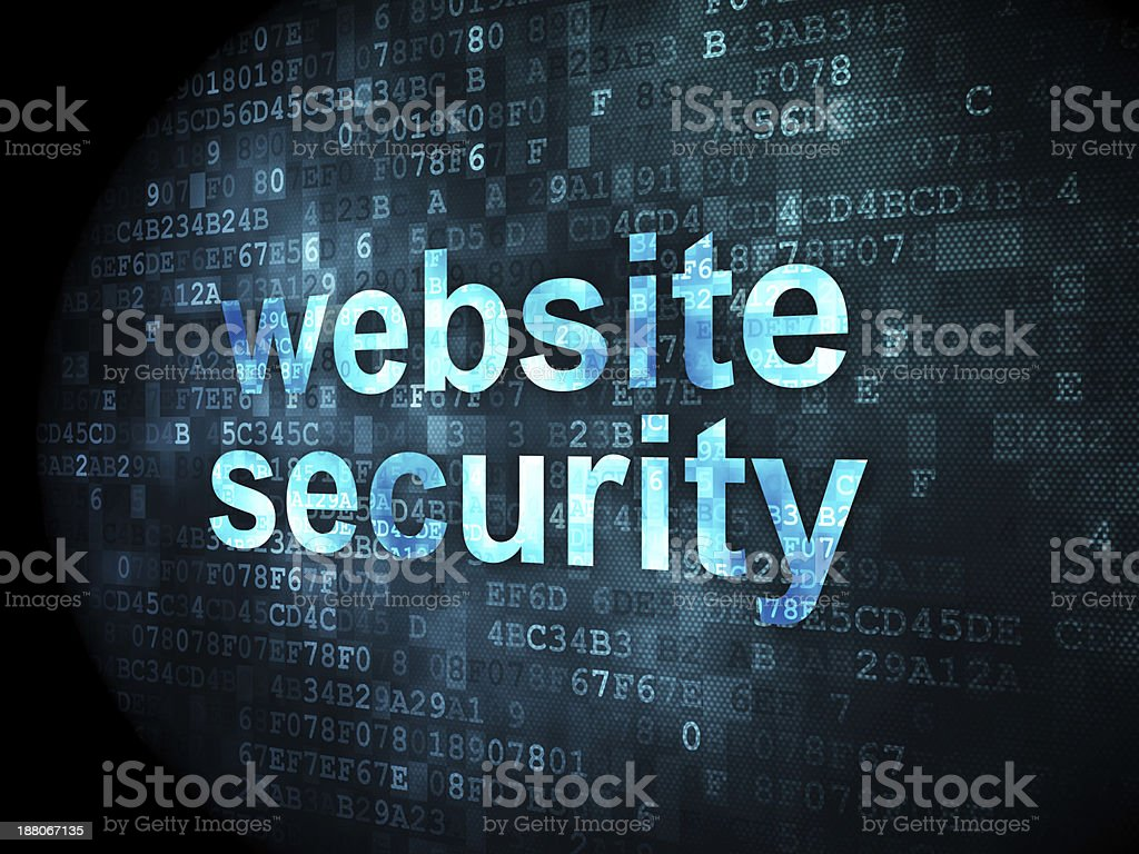 website security on digital background royalty-free stock photo