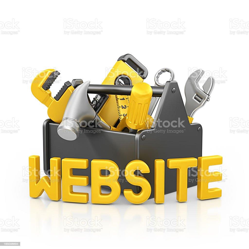 website toolbox royalty-free stock photo