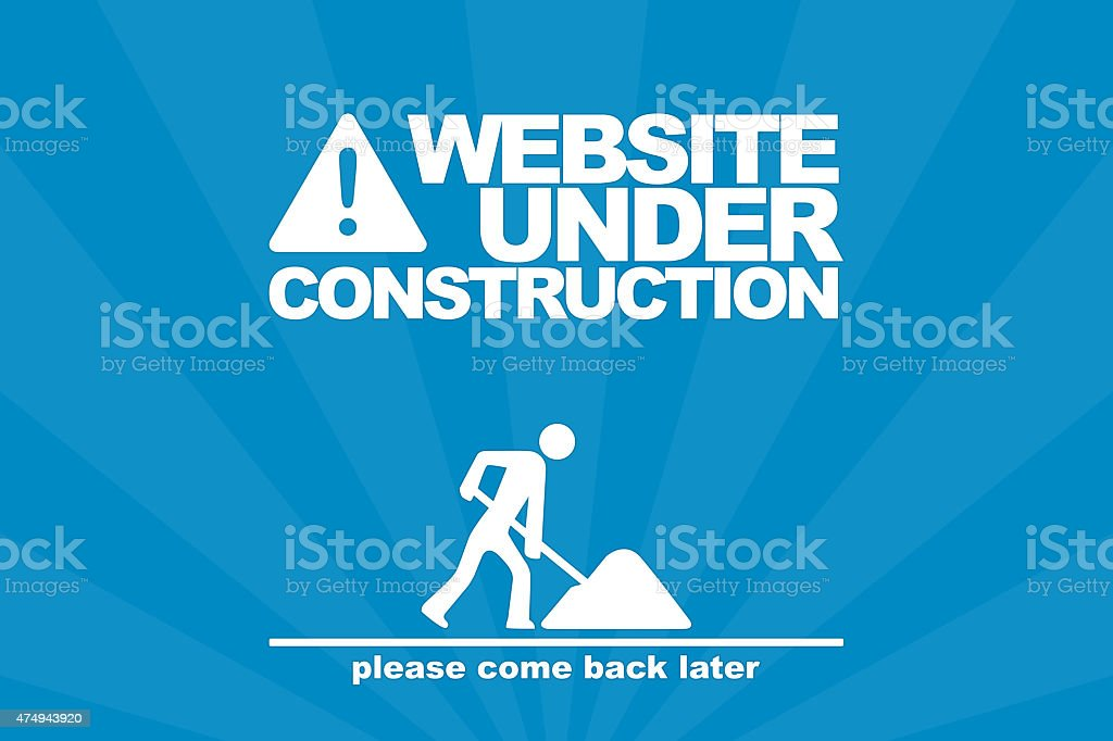 Website under construction stock photo