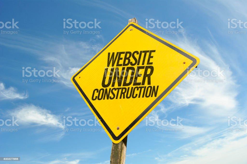 Site em construção - foto de acervo
