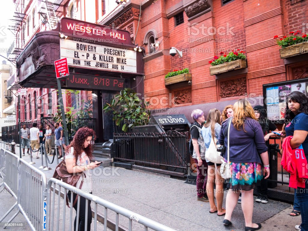 Webster Hall New York City royalty-free stock photo
