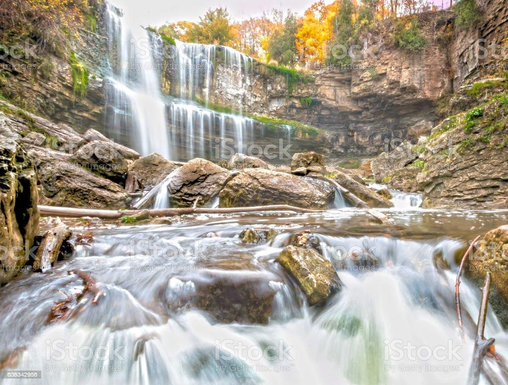 Websters Waterfalls Hamilton Canada stock photo