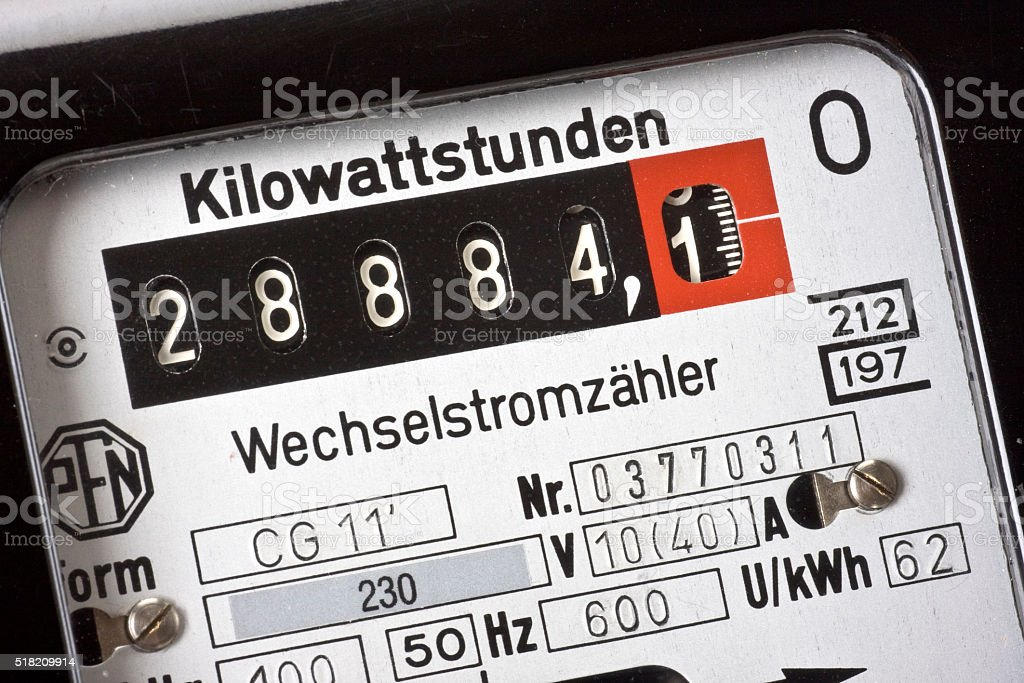 Wechselstromzähler stock photo