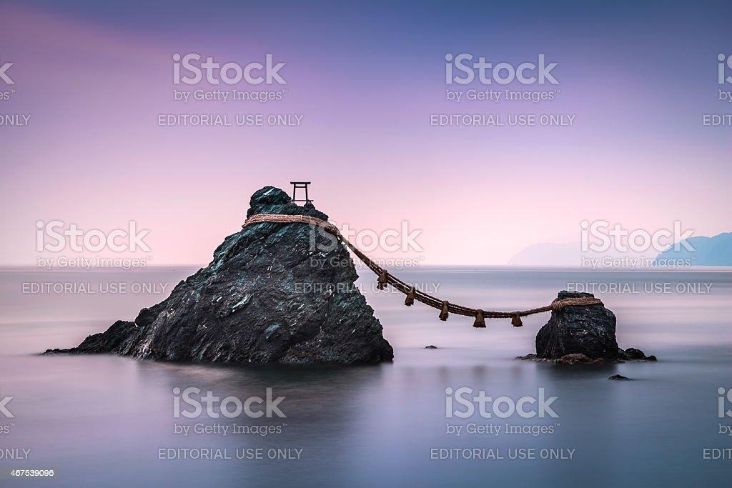 Wedded Rocks stock photo