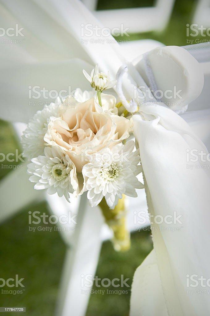 Wedding Aisle Decoration royalty-free stock photo
