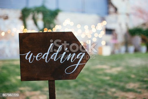 istock Wedding and party place decoration 607962220