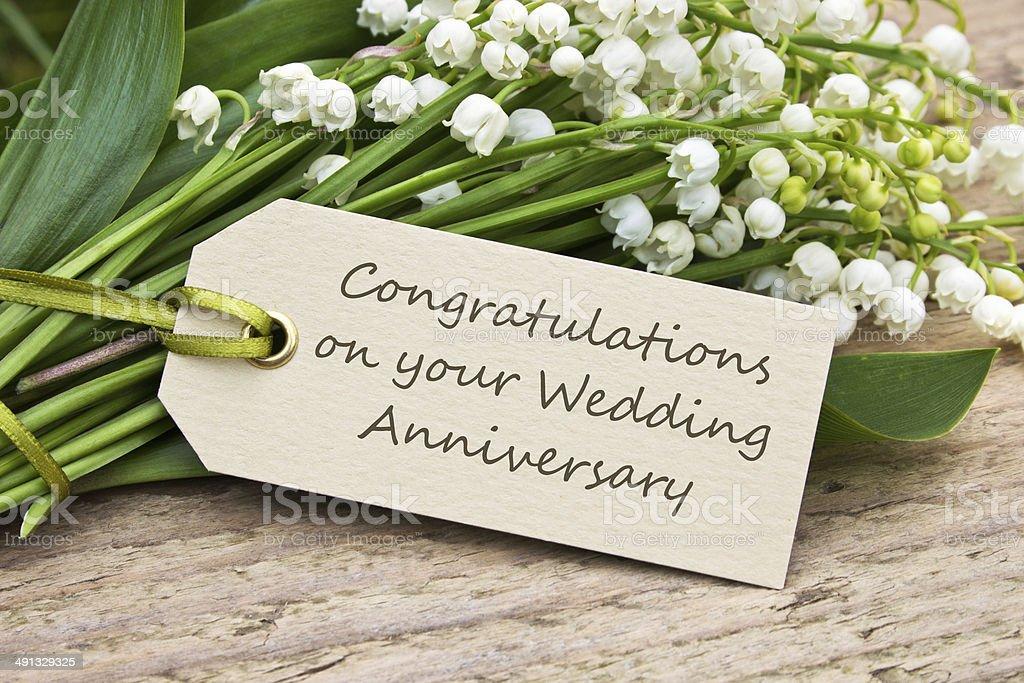 Cartão de aniversário de casamento - foto de acervo